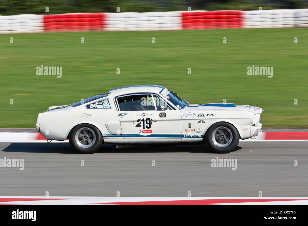 Race of post-war racing cars, Mustang, at the Oldtimer Grand Prix ...