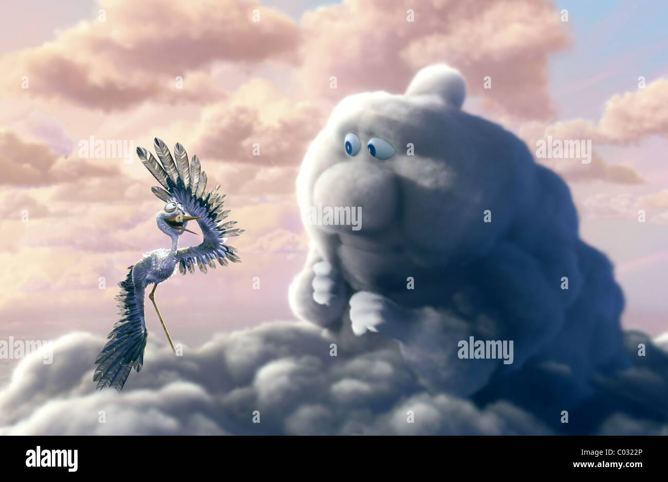 PECK THE STORK & GUS THE CLOUD PARTLY CLOUDY (2009) - Stock Image