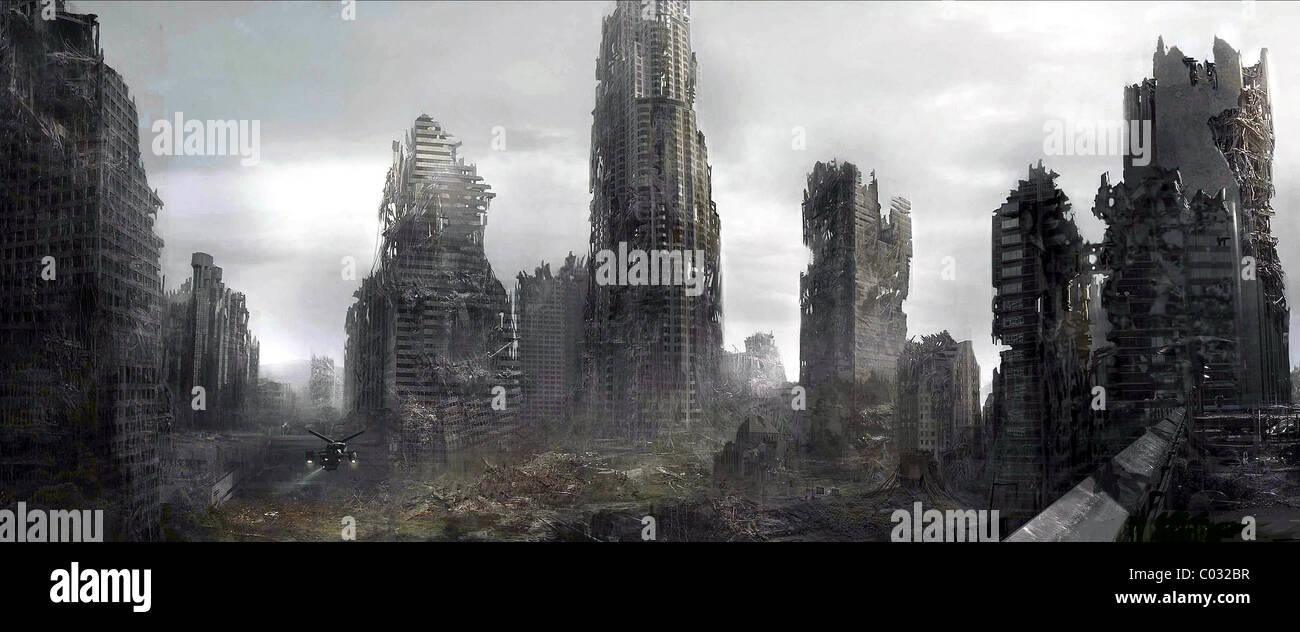 POST APOCALYPTIC CITYSCAPE TERMINATOR: SALVATION (2009) - Stock Image