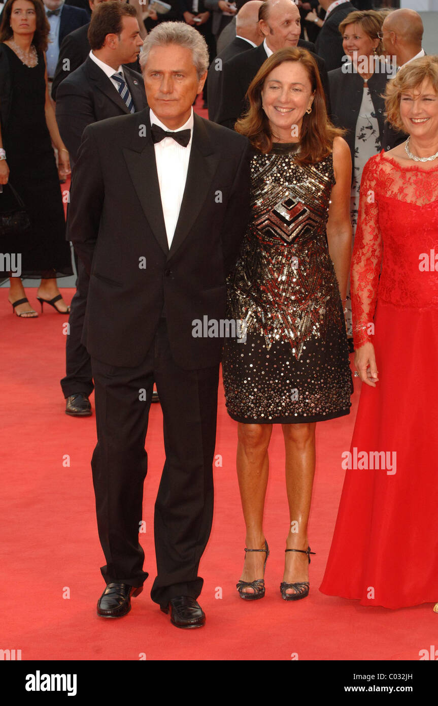 Francesco Rutelli And Barbara Palombelli 64th Venice Film Festival Stock Photo Alamy