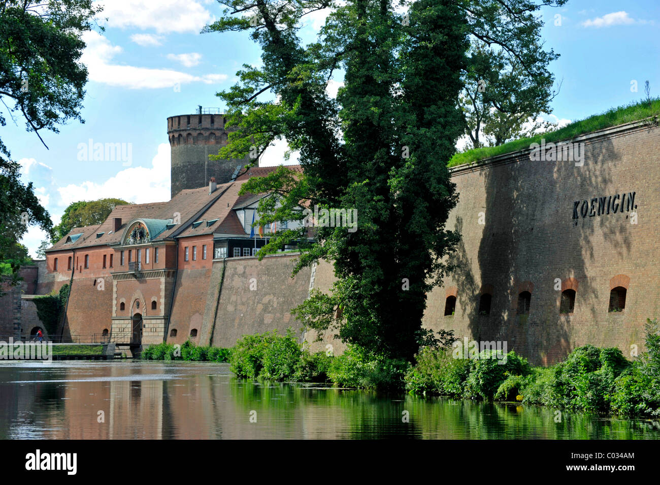 Commandant's House, Queen's Bastion, with moats, Spandau Citadel fortress, Berlin, Germany, Europe - Stock Image