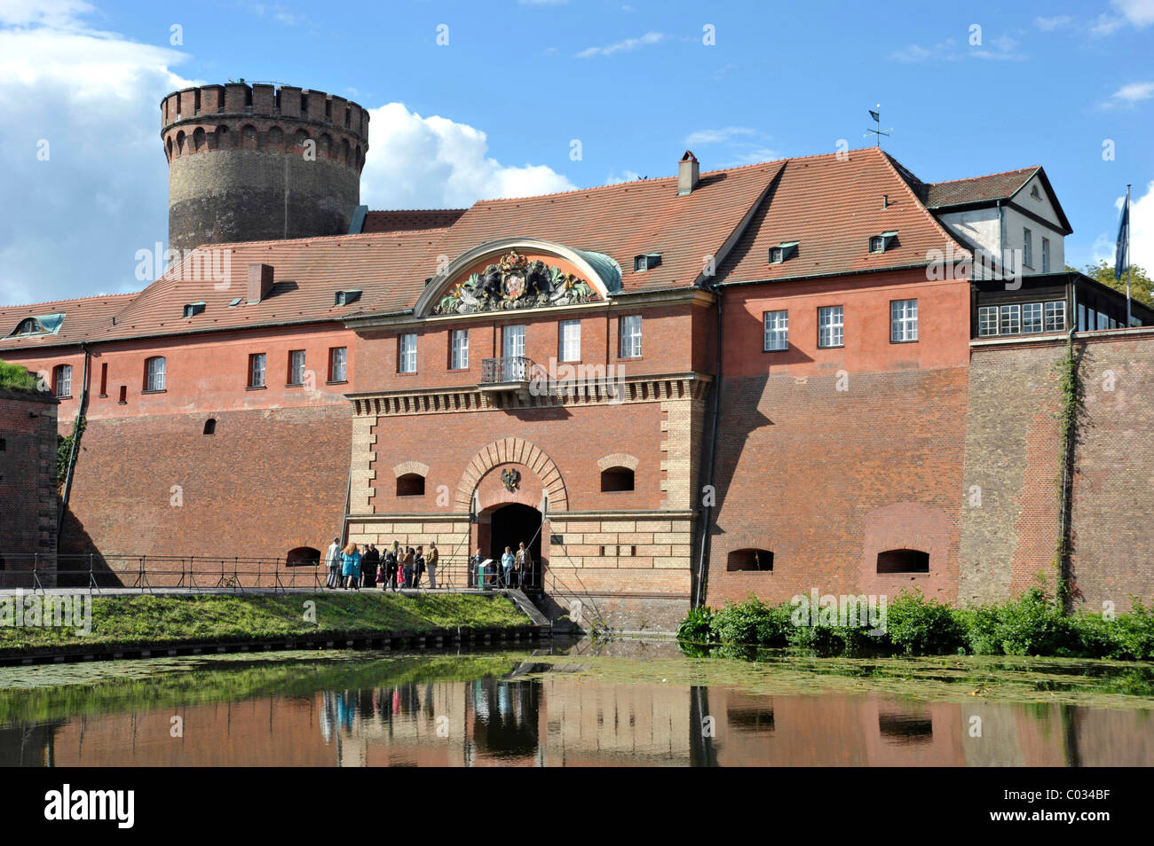 Commandant's House, with moats, Spandau Citadel fortress, Berlin, Germany, Europe - Stock Image