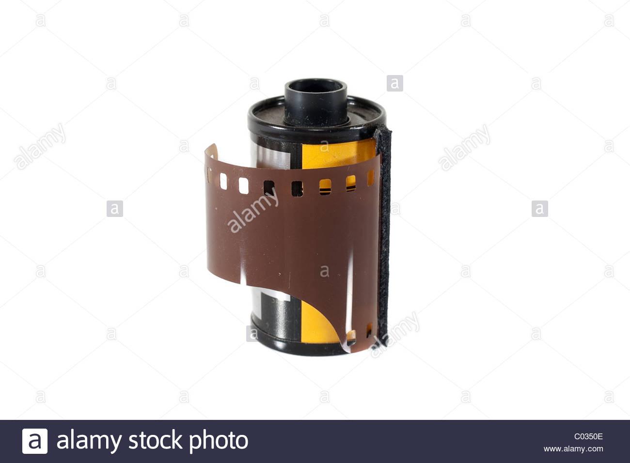 Negative photo film roll Stock Photo