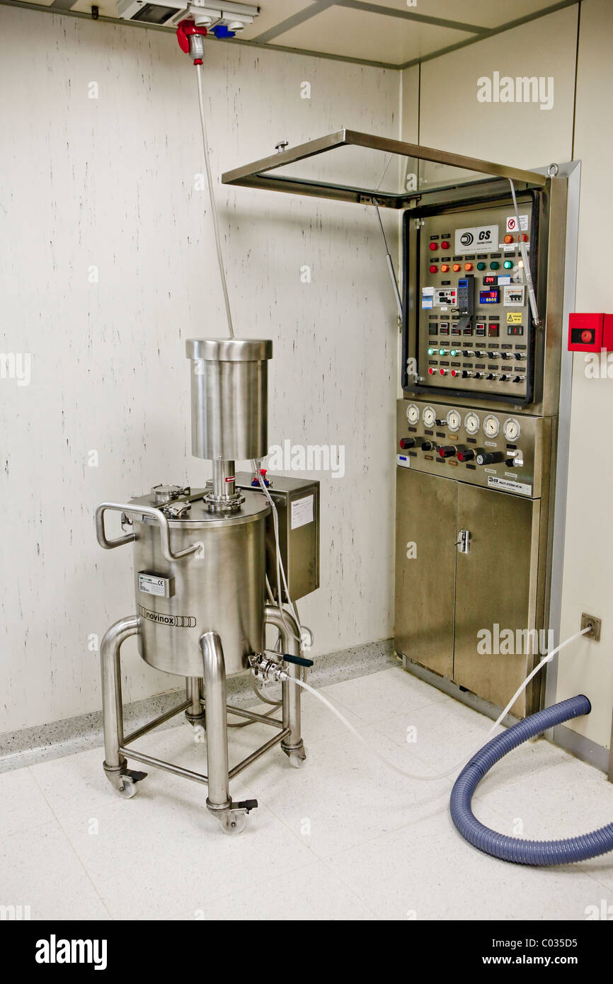 pharmaceutical industry, control panel - Stock Image