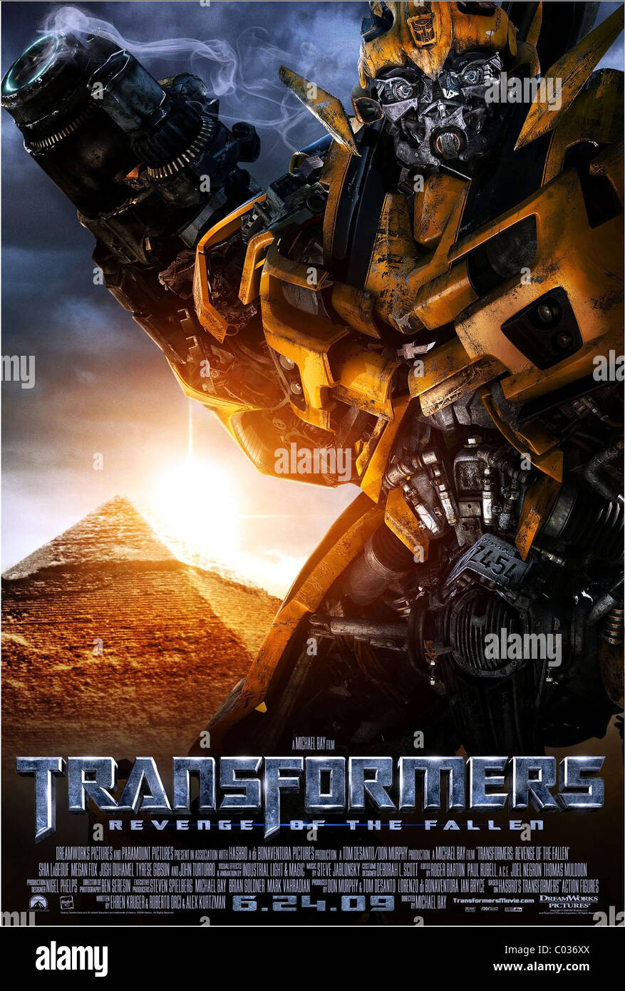 Bumblebee Poster Transformers Revenge Of The Fallen 2009 Stock Photo Alamy