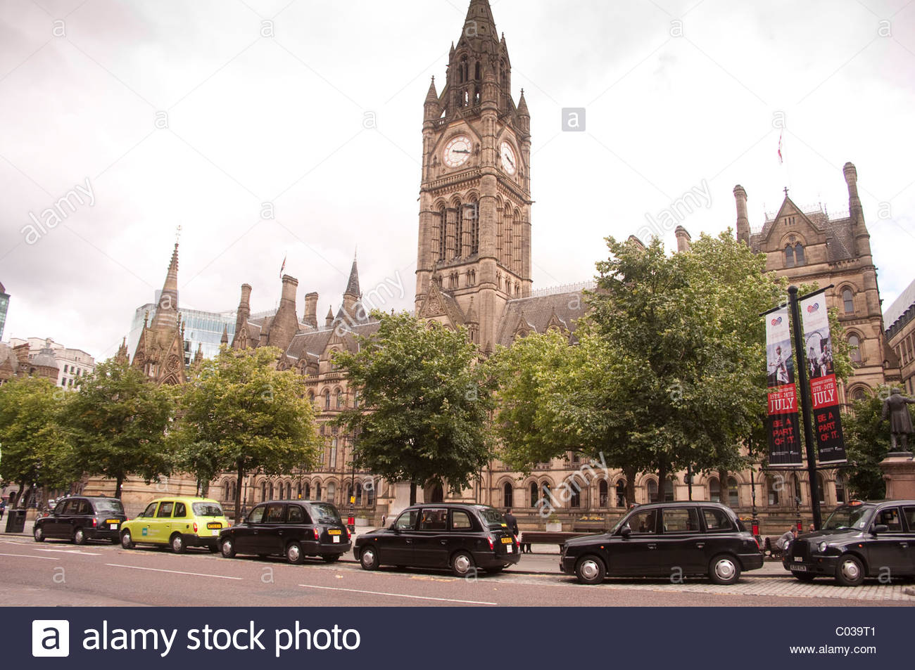 Manchester town hall: The home of Manchester City Council - Stock Image