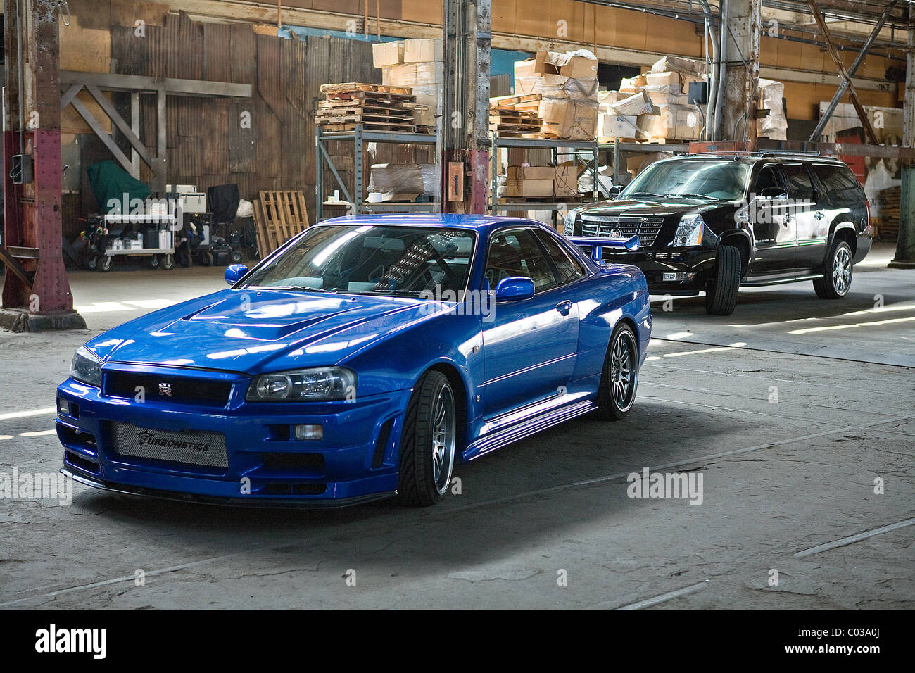 1998 NISSAN SKYLINE ER34 FAST & FURIOUS; THE FAST AND THE FURIOUS 4 (2009) Stock Photo