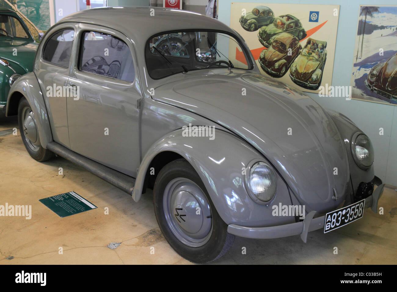 VW 1200 Standard, built in 1948, unchanged pre-war design, Volkswagen Beetle, ErfinderZeiten: Auto- und Uhrenmuseum, - Stock Image
