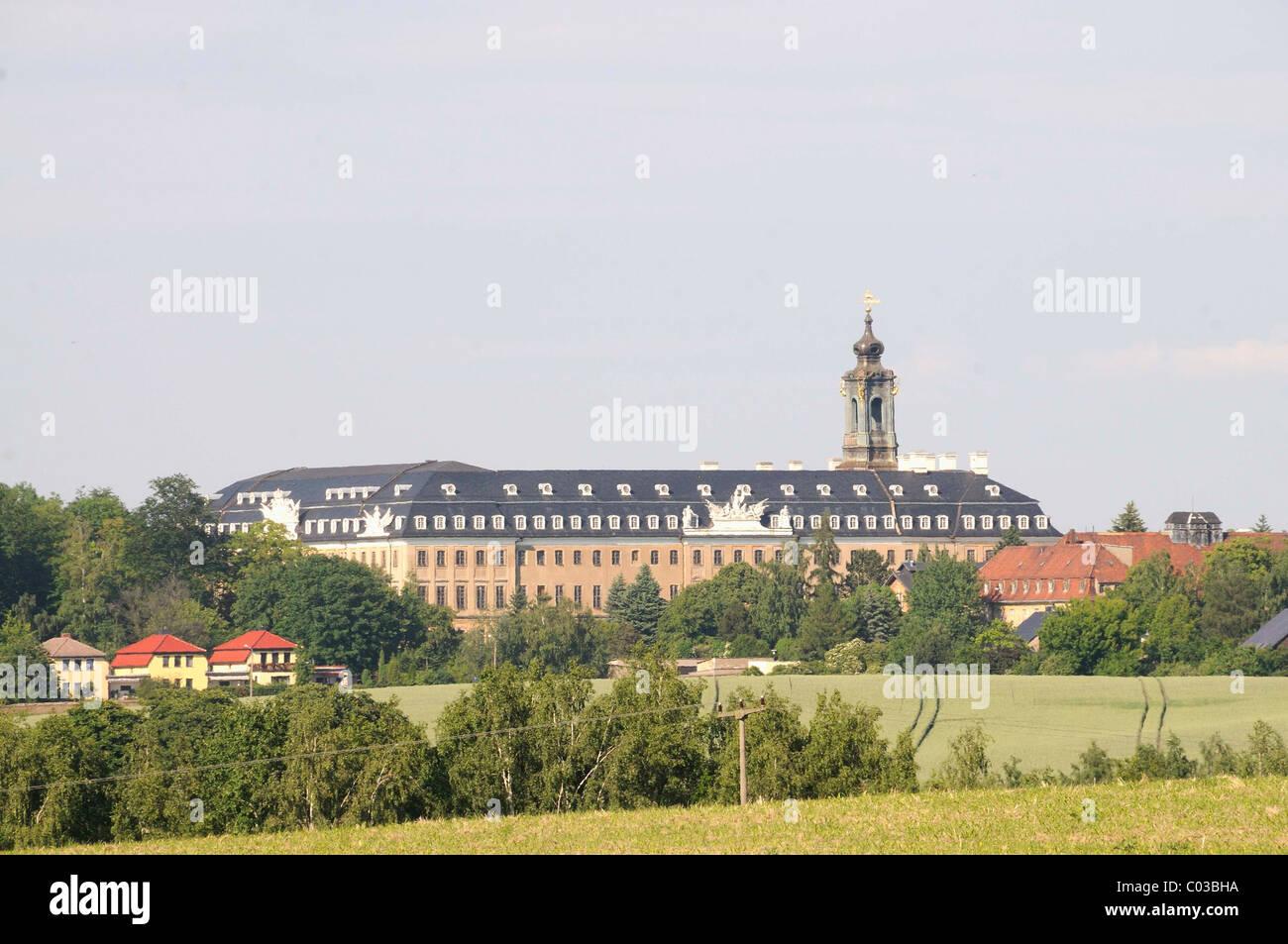 Hubertusburg palace, Wermsdorf, Landkreis Nordsachsen district, Saxony, Germany, Europe Stock Photo