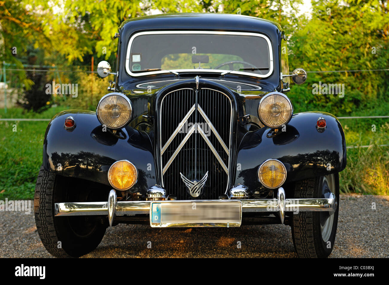 classic car  citroen 11 cv commercial  built 1955-56  41 kw  55 hp stock photo  34495962
