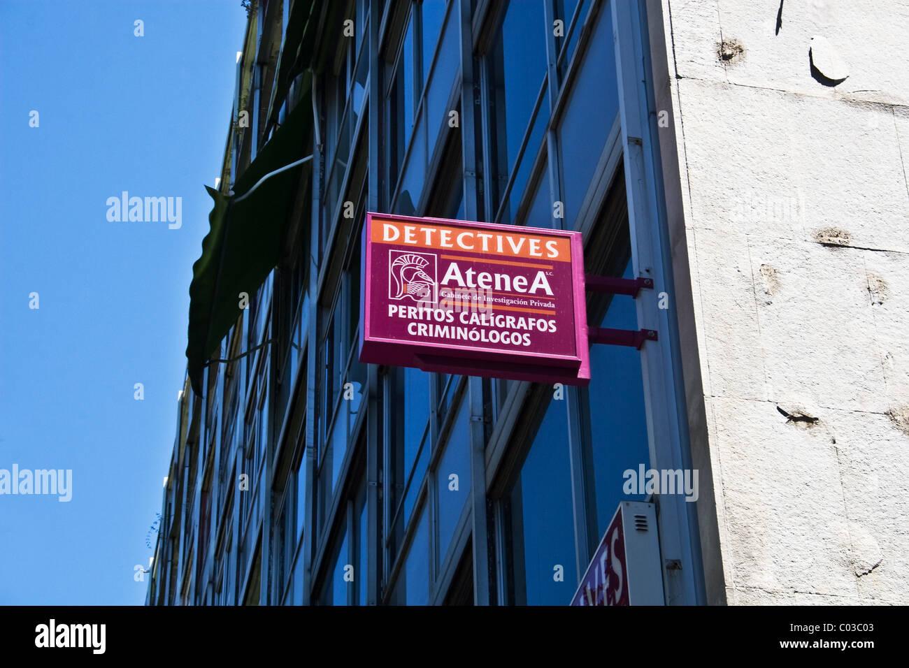 Detective agency, Cordoba, Andalucia, Spain - Stock Image
