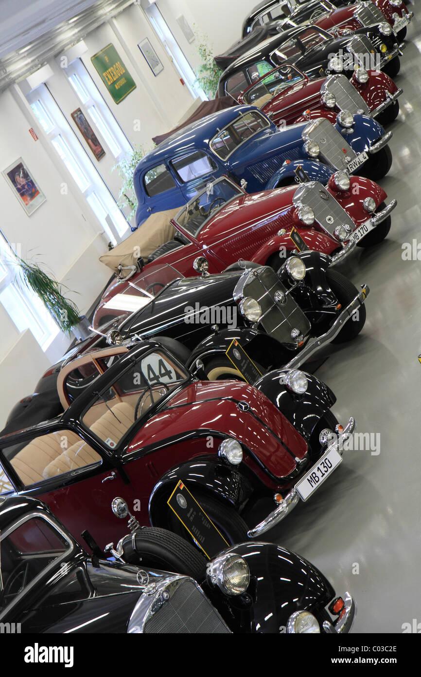 Vintage Mercedes-Benz cars, Autosammlung Steim car museum, Schramberg, Black Forest, Germany, Europe Stock Photo