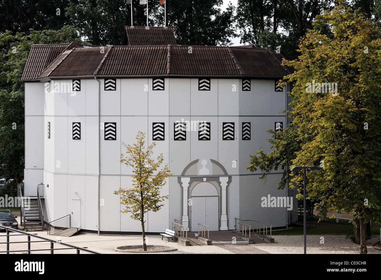 Globe Theatre, replica of the original in London, Shakespeare Festival, Neuss, Niederrhein, North Rhine-Westphalia - Stock Image
