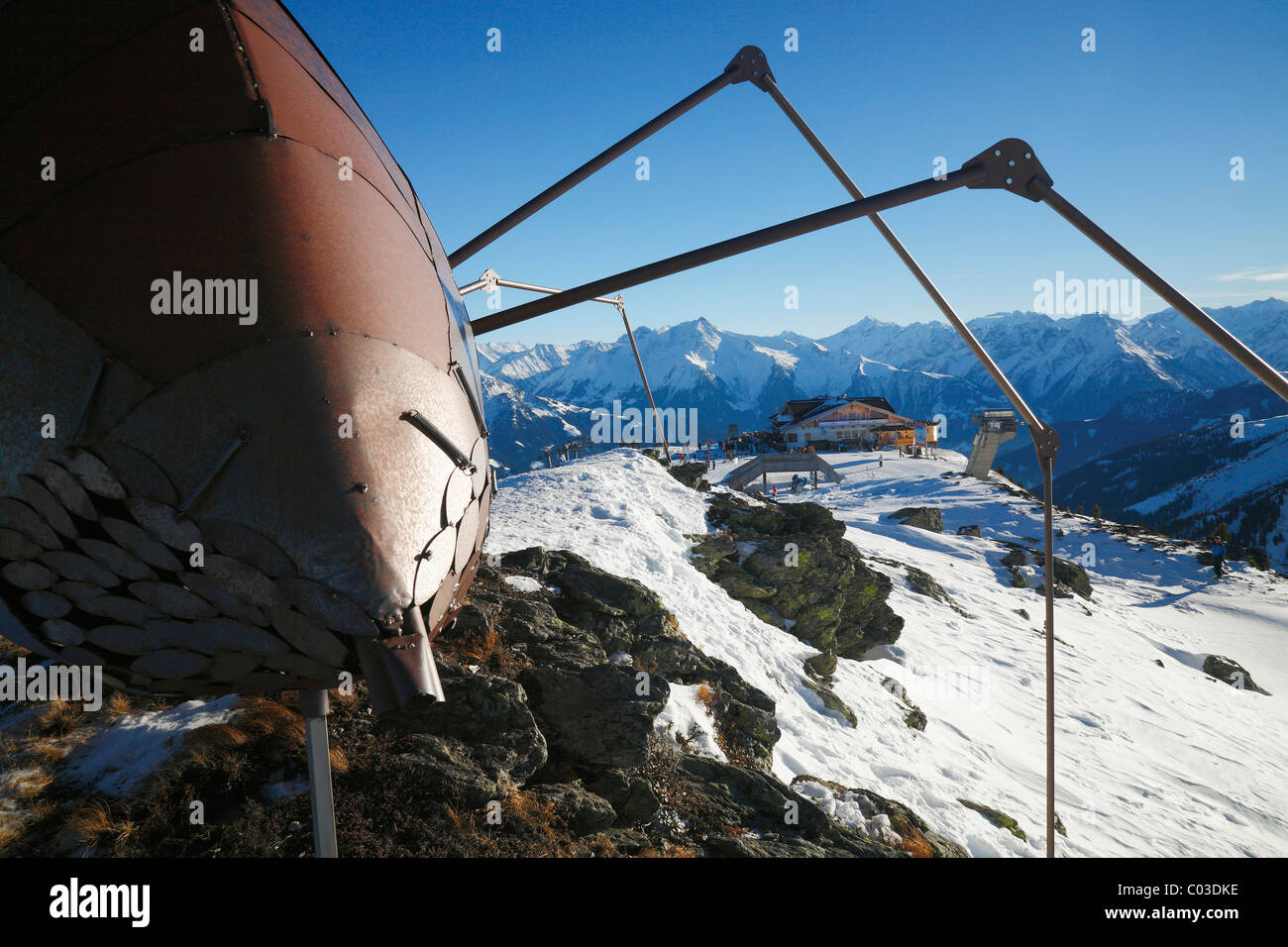 Spider on the top of the hill at Zillertal, Austria, Europe - Stock Image