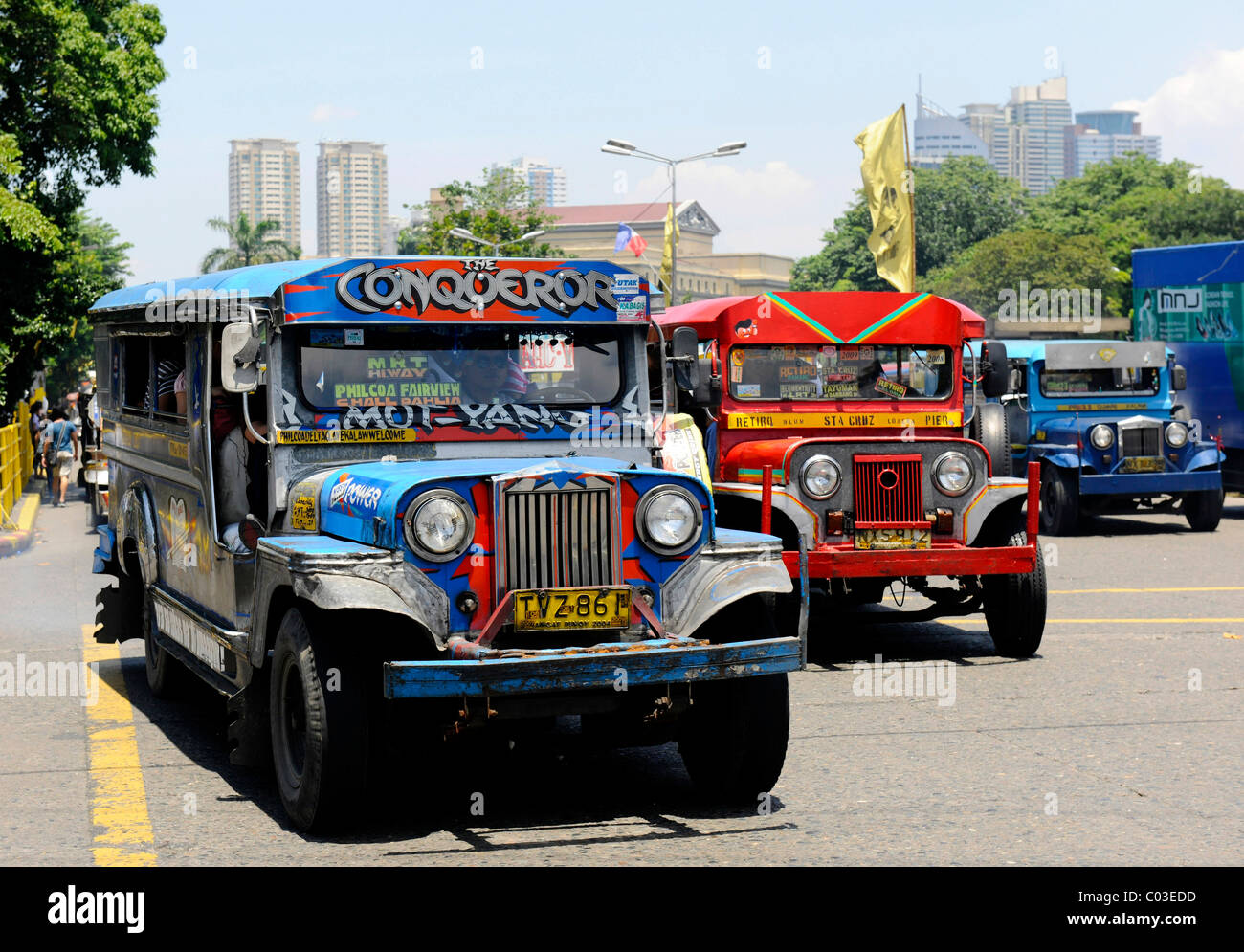 Jeepney Taxi in Manila, Philippines, Southeast Asia - Stock Image