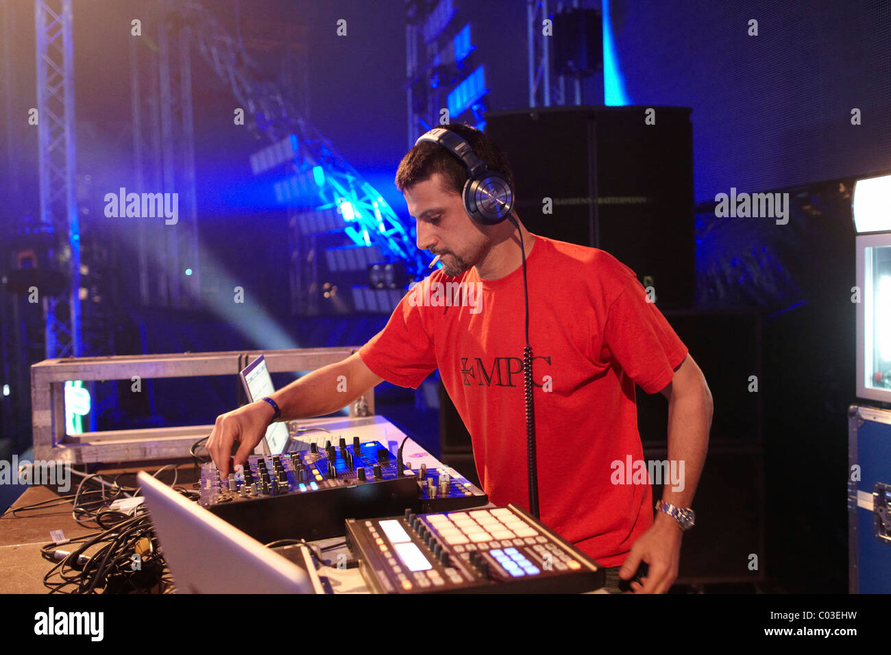 Dave Clarke, Nature One 2010 electronic music festival, Kastellaun, Rhineland-Palatinate, Germany, Europe - Stock Image