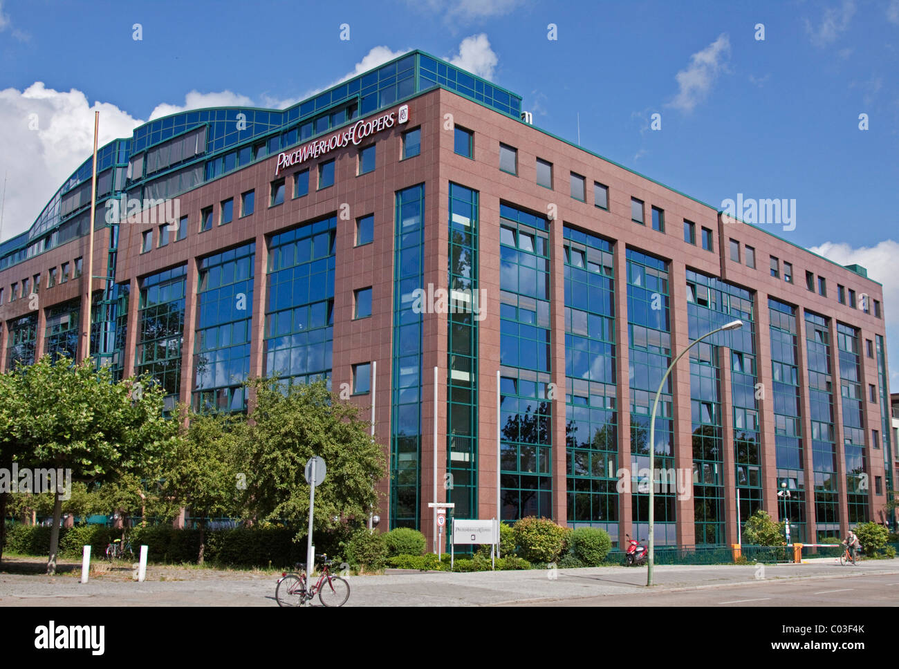 PricewaterhouseCoopers corporation, auditing company, PwC, branch office in Berlin, Germany, Europe - Stock Image