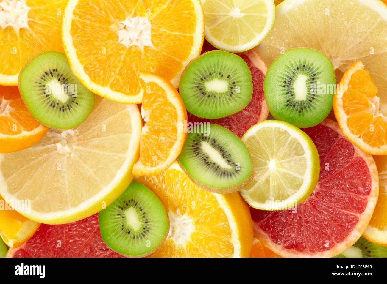 Citrus fruits background - Stock Image