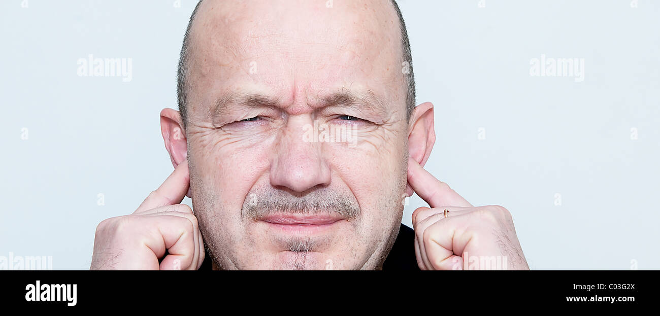 irritating noise - Stock Image
