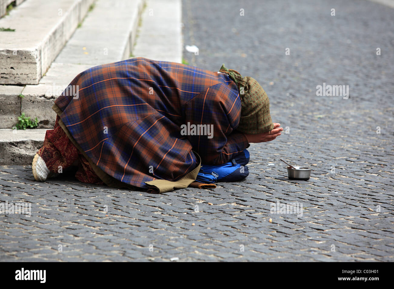Beggar, Rome, Italy, Europe Stock Photo