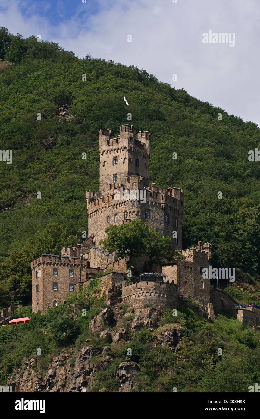 Burg Sooneck Castle, UNESCO World Heritage Cultural Landscape of the Upper Middle Rhine Valley, Bingen, Rhineland - Stock Image
