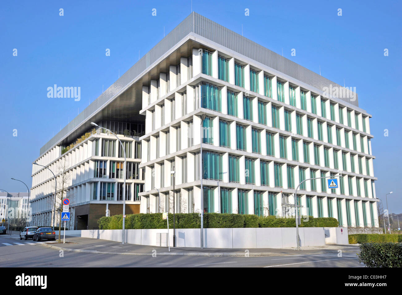 Commerzbank building, Rue Edward Steichen street, Kirchberg district, city of Luxembourg, Europe - Stock Image