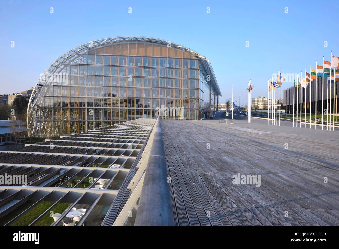 European Investment Bank, Boulevard Konrad Adenauer street, Kirchberg district, city of Luxembourg, Europe - Stock Image