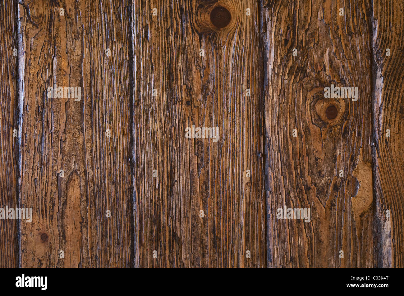 Old wooden floor, background - Stock Image