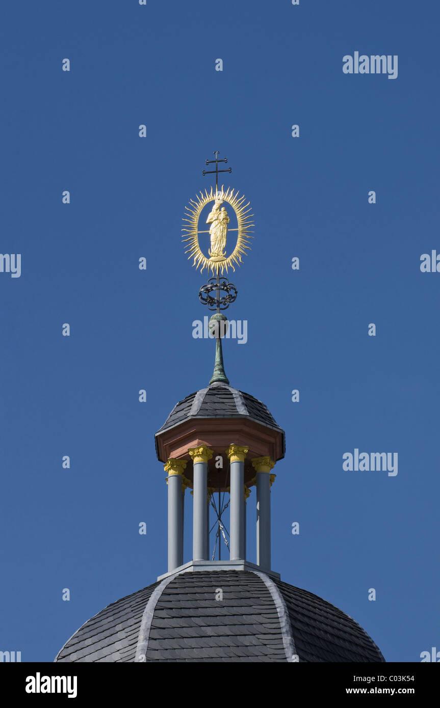 Weather vane on a spire, Gutenberg Museum, Mainz, Rhineland-Palatinate, Germany, Europe - Stock Image