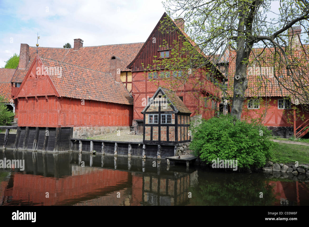 Open-air museum, the Old Town or Den Gamle By, Århus or Aarhus, Jutland, Denmark, Europe Stock Photo