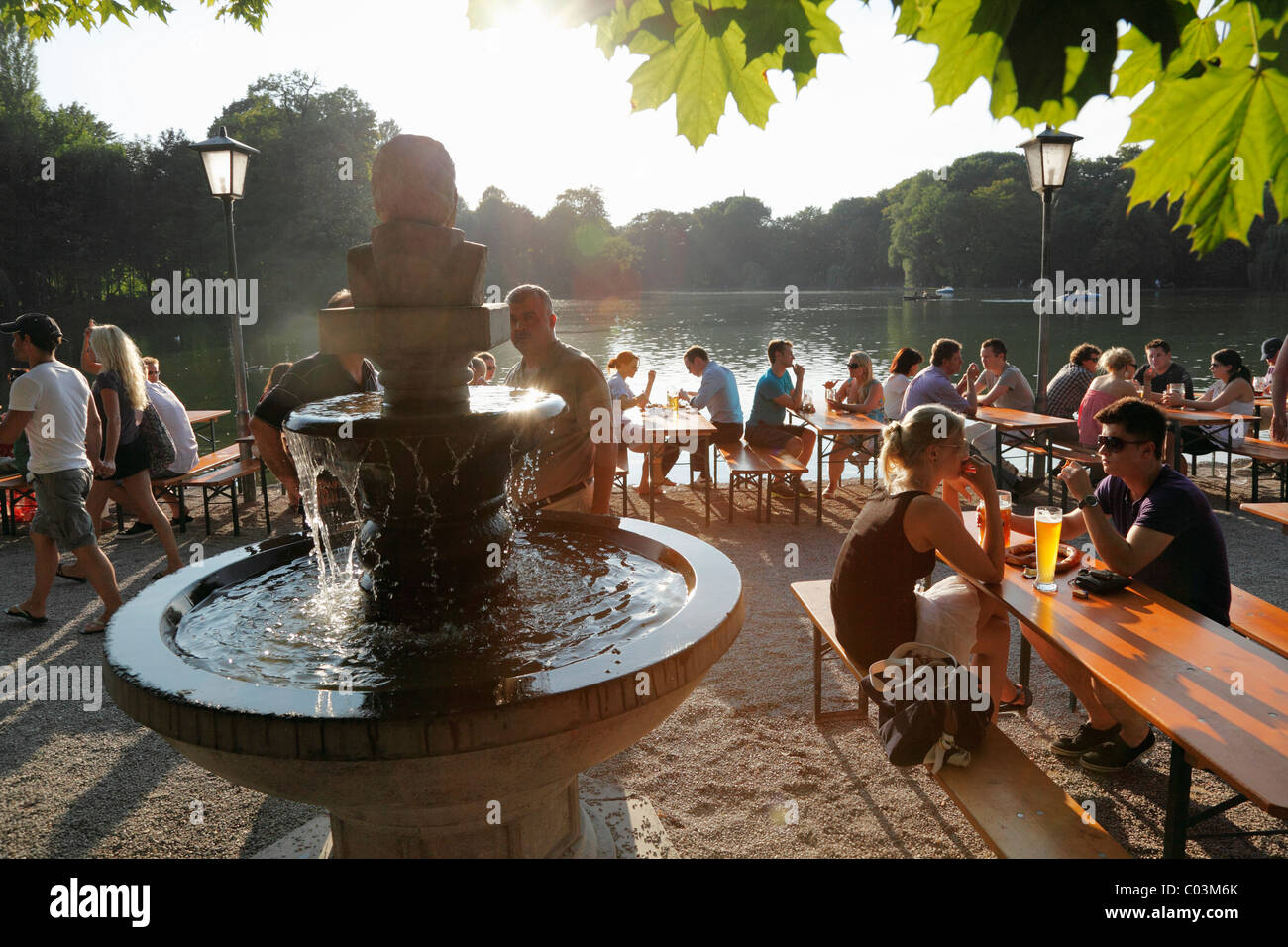 Seehaus Beer Garden Stock Photos & Seehaus Beer Garden Stock Images ...
