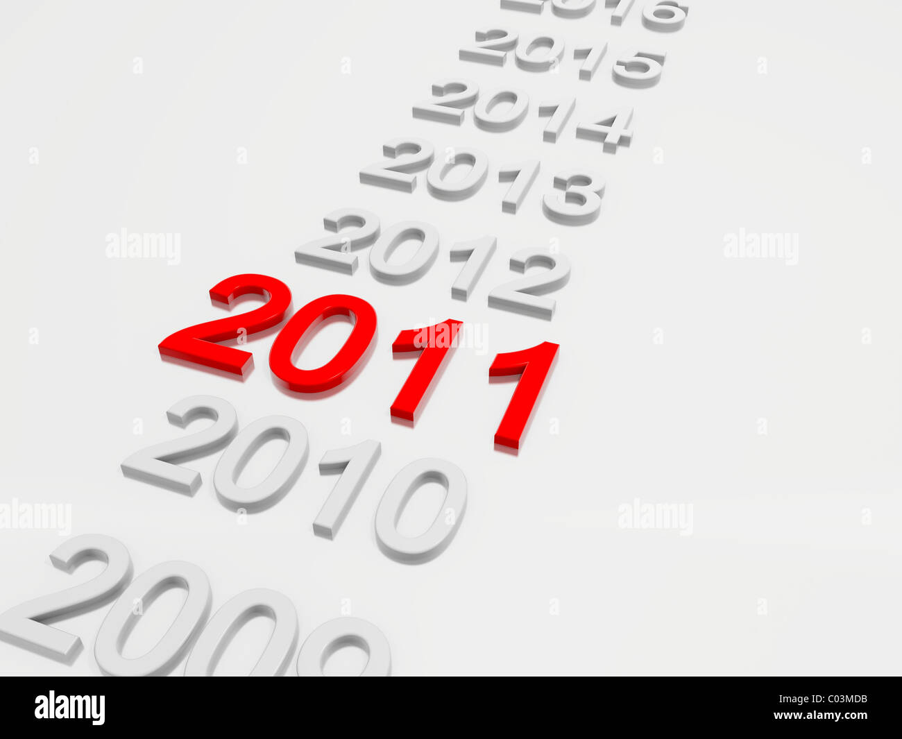 New Year 2011 in 3D - Stock Image