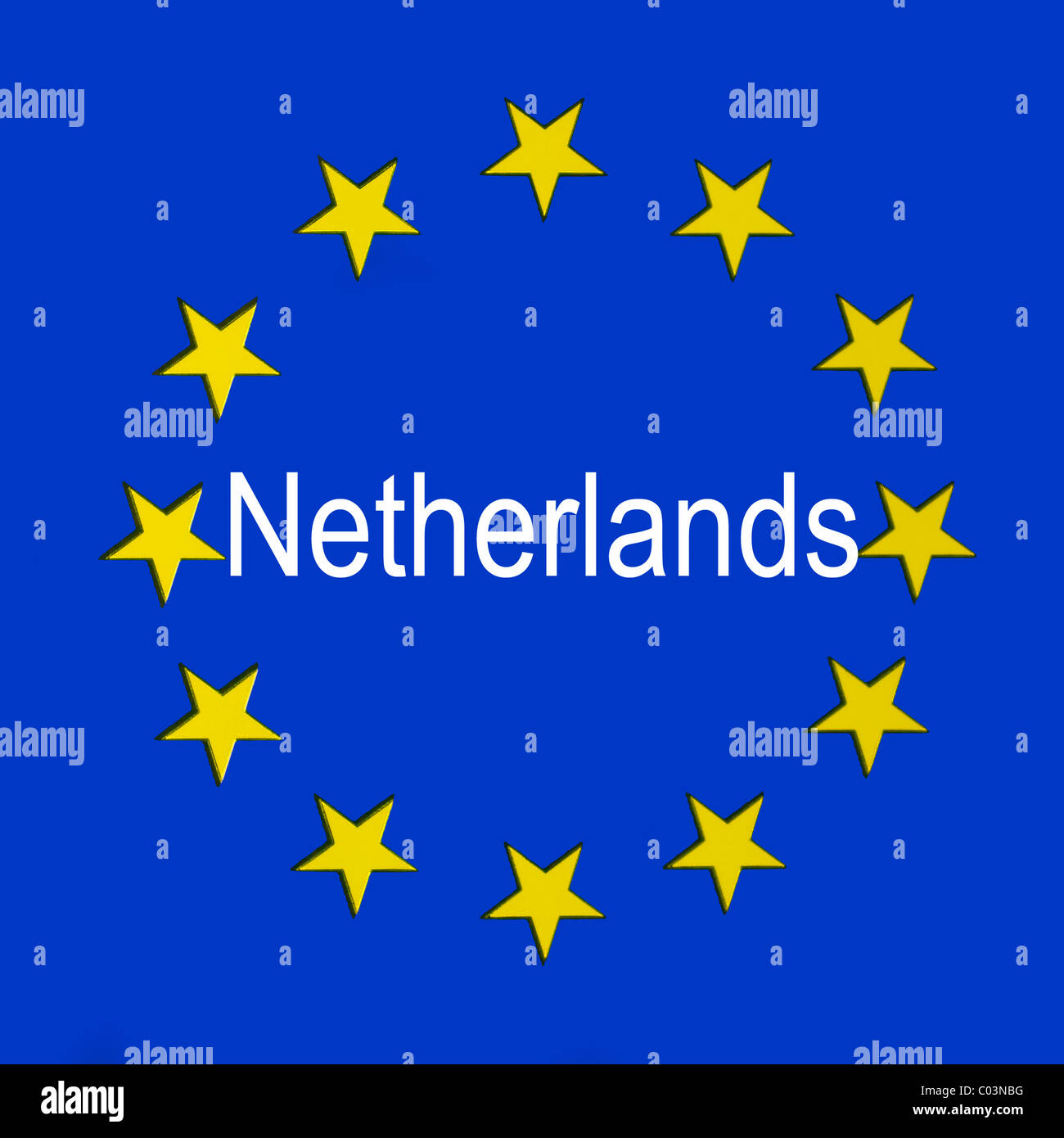 Netherlands in the European union flag Stock Photo