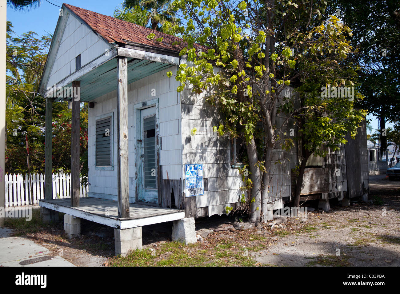 Small old house in Whitehead Street, Key West, Florida, USA Stock Photo