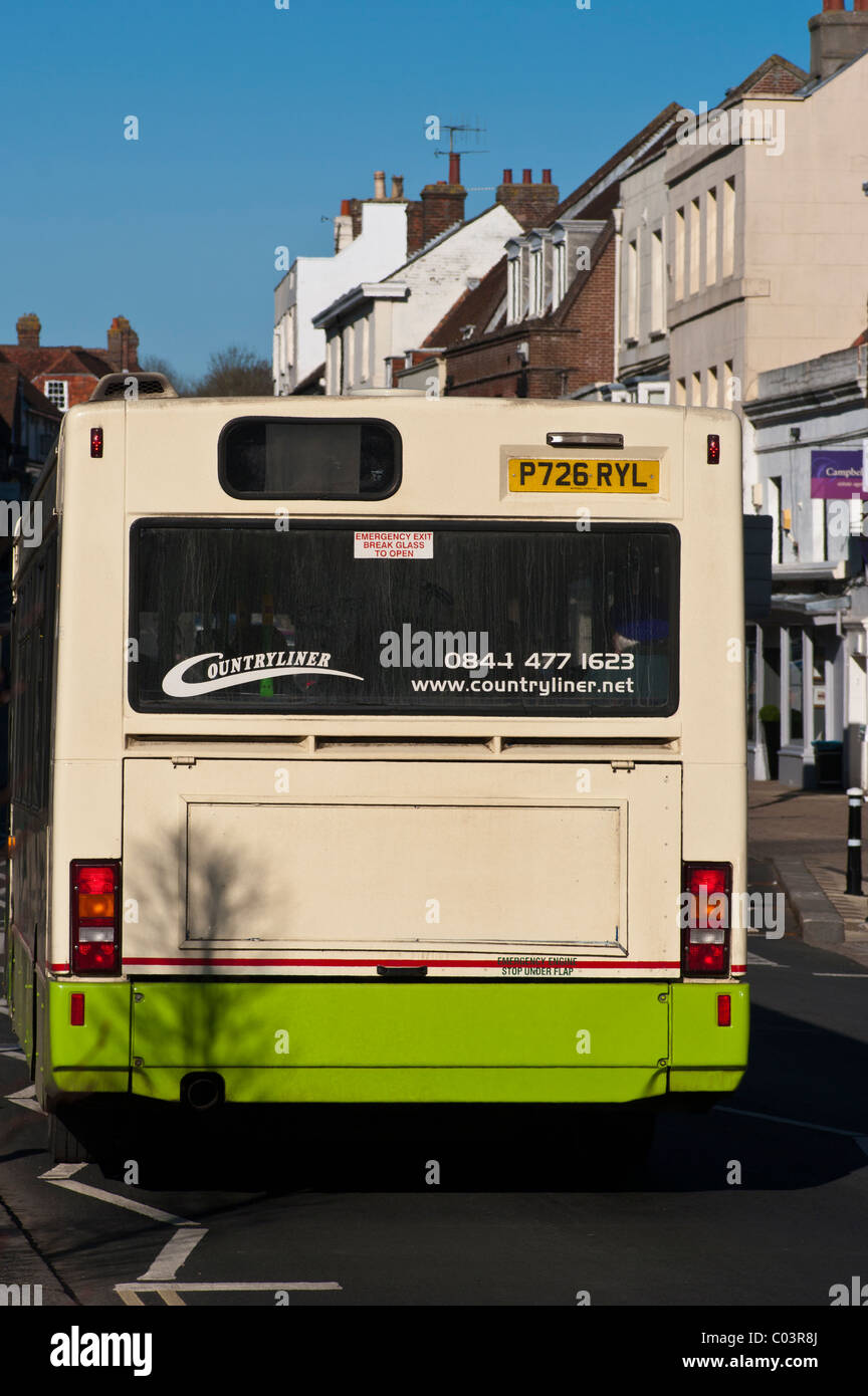 Rear Of A Countryliner Single Decker Bus Stock Photo