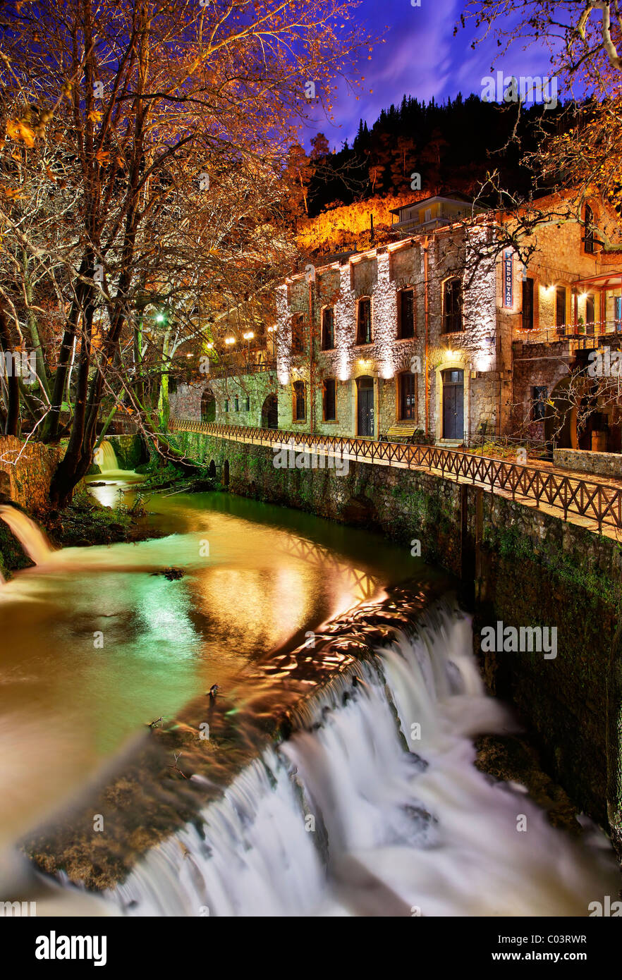 A photo from the Krya Springs, a beautiful place in the heart of Livadia town, Viotia prefecture, Greece - Stock Image