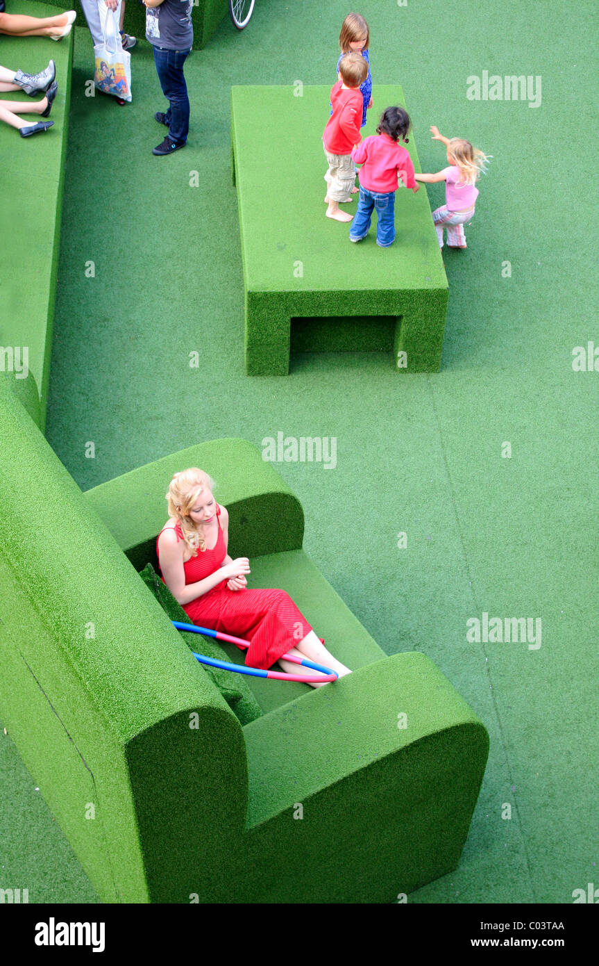 Giant chair, National Theatre, London Stock Photo