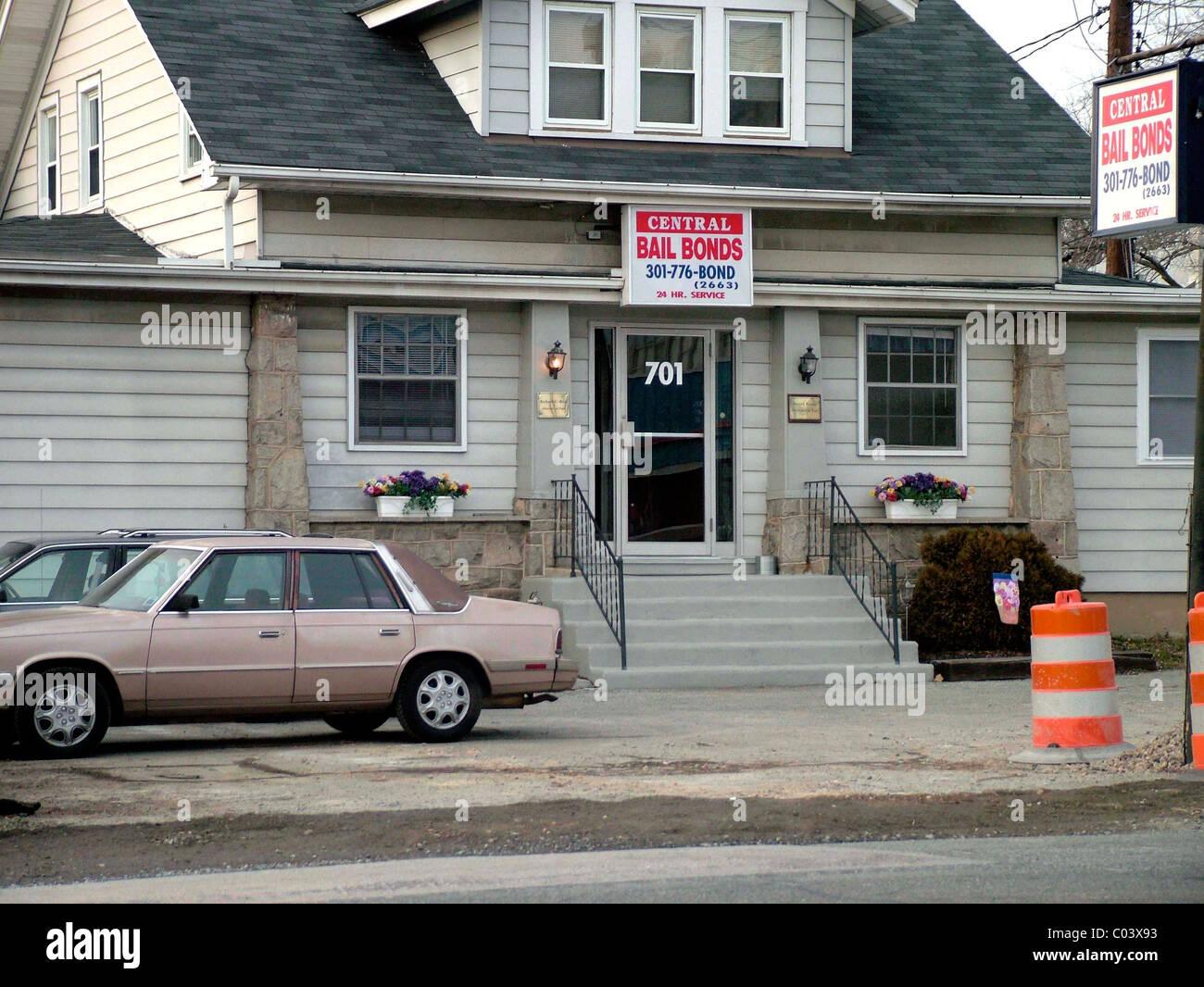 bail bondsman's office Laurel, md - Stock Image