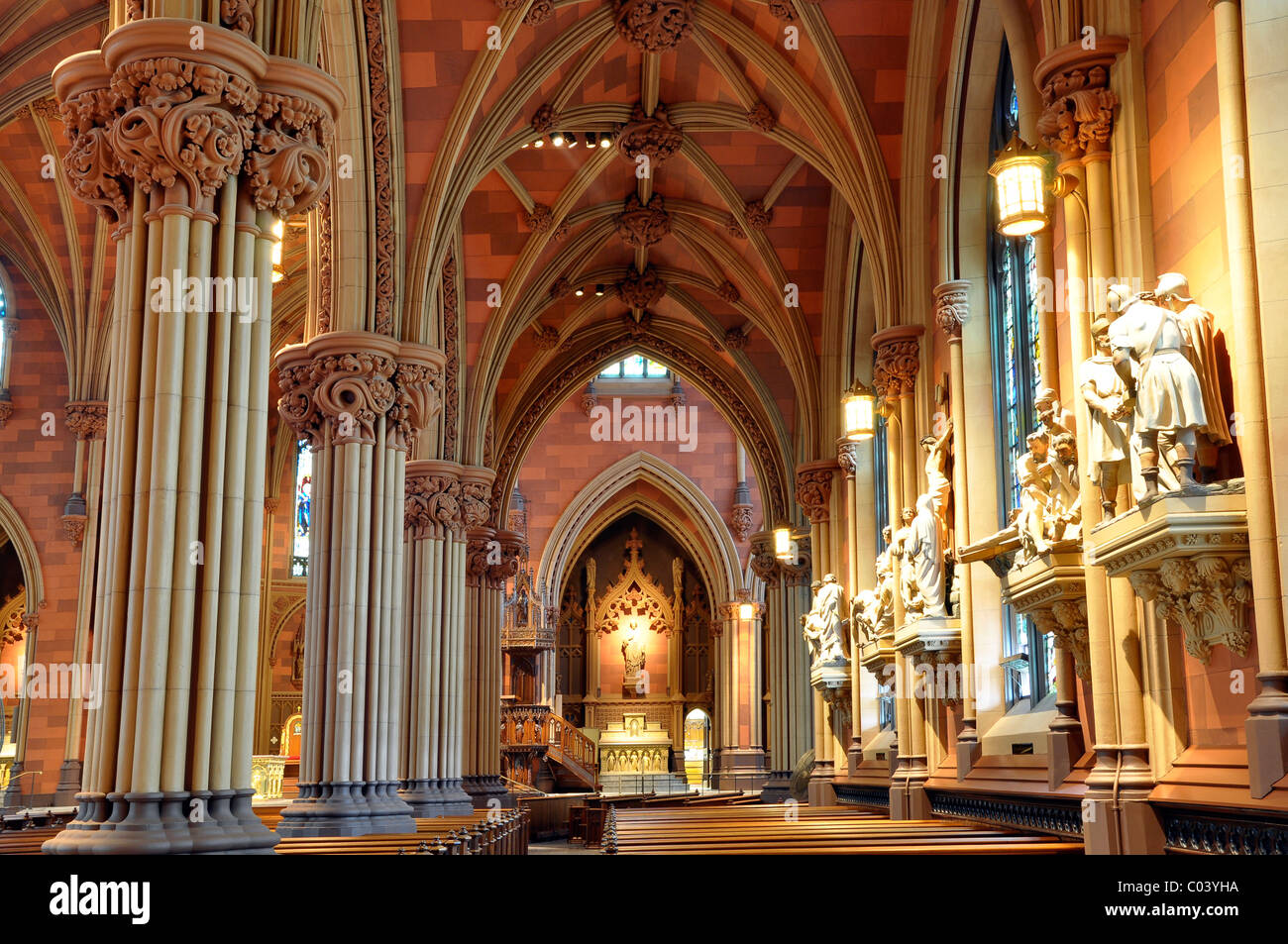 the interior design of cathedral of the immaculate conception