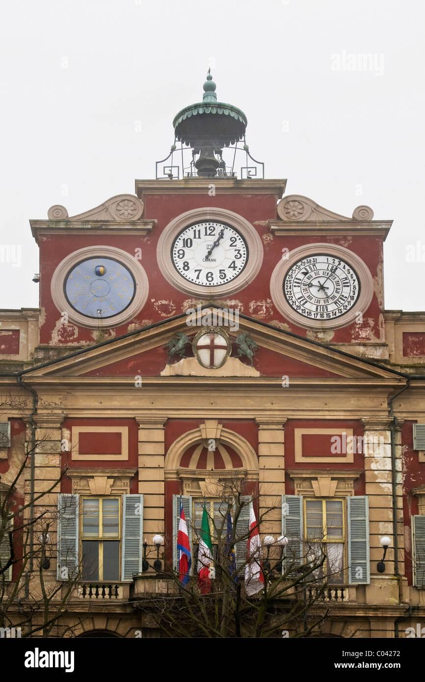 Town hall, Libertà square, Alessandria, Italy - Stock Image