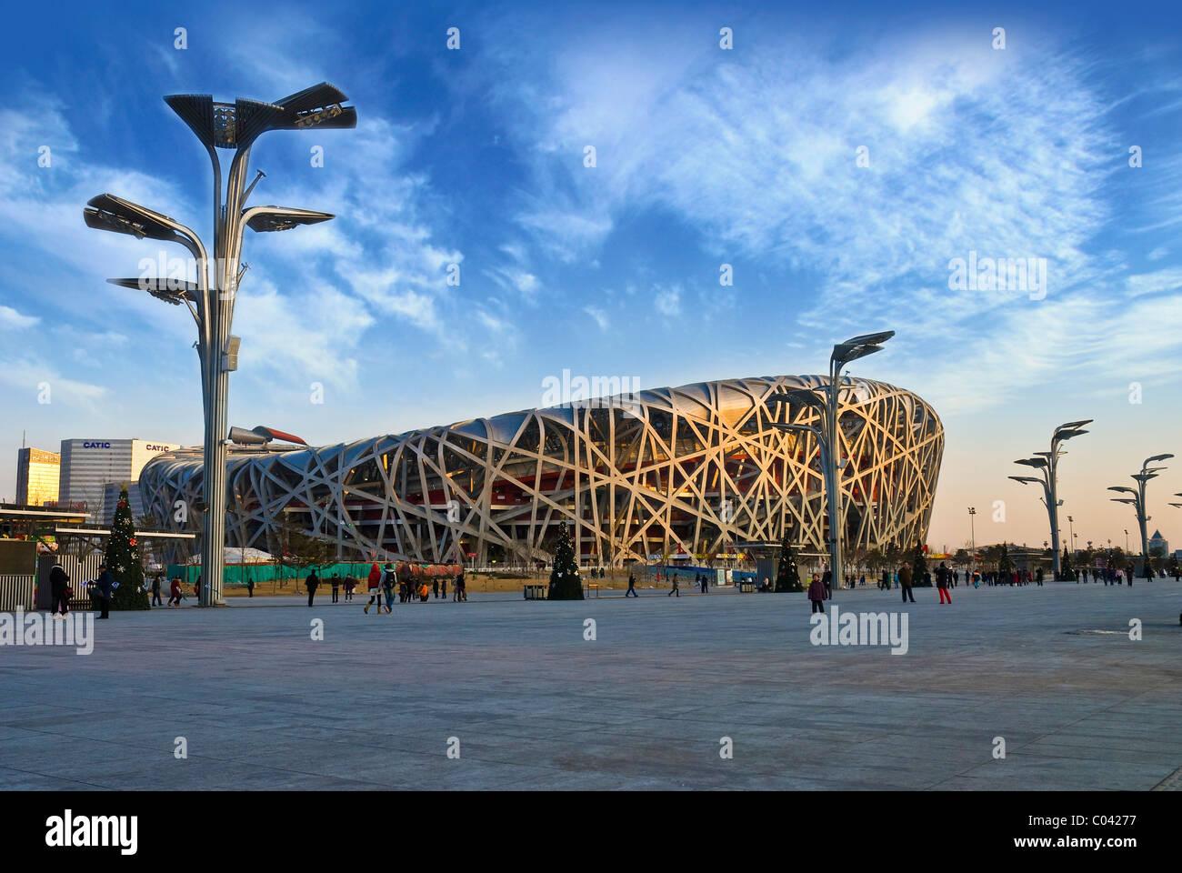 olypmpia stadion   beijing - Stock Image