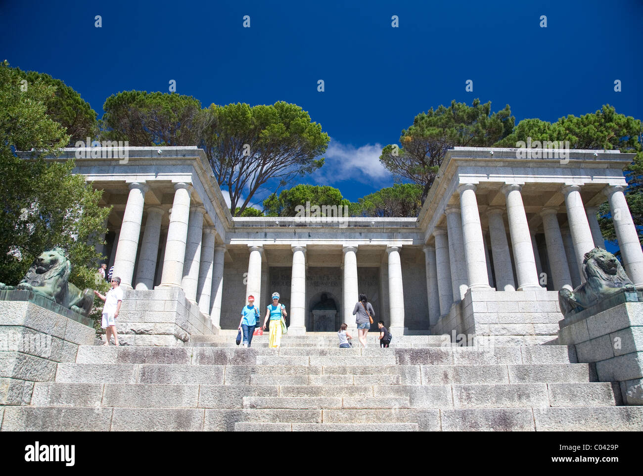 Rhodes Memorial in Cape Town - Stock Image