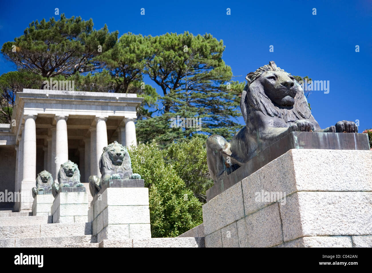 Rhodes Memorial - Cape Town - South Africa - Stock Image