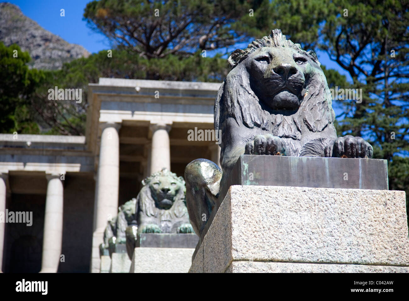 Rhodes Memorial - Cape Town - South Africa Stock Photo