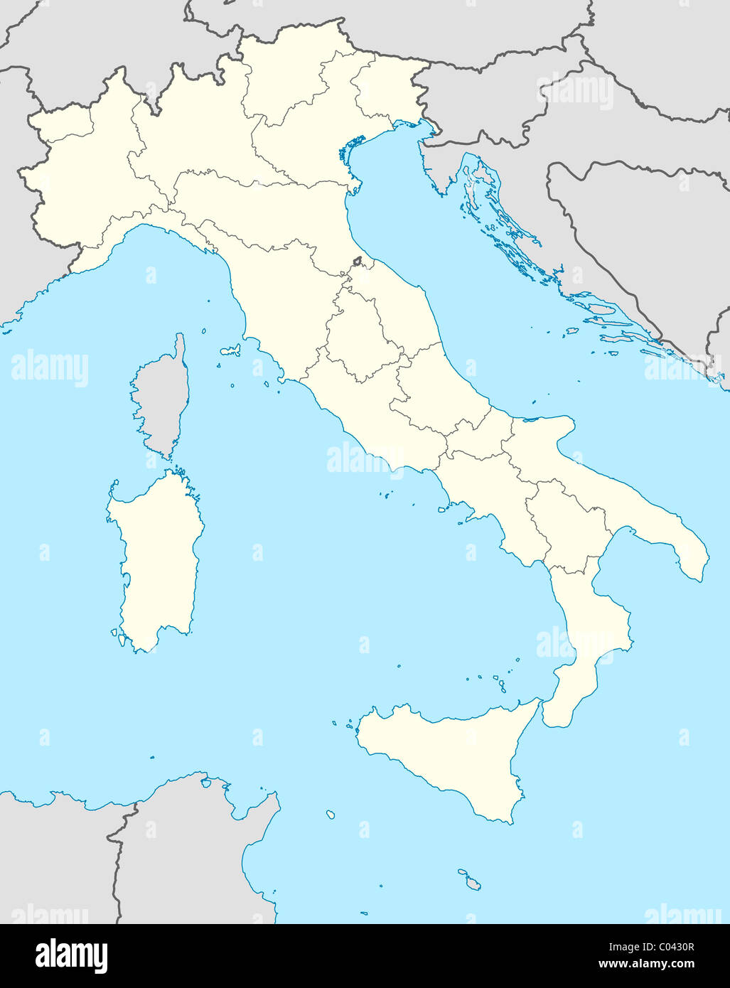 Picture of: Illustrated Map Of The Country Of Italy In Europe Stock Photo Alamy