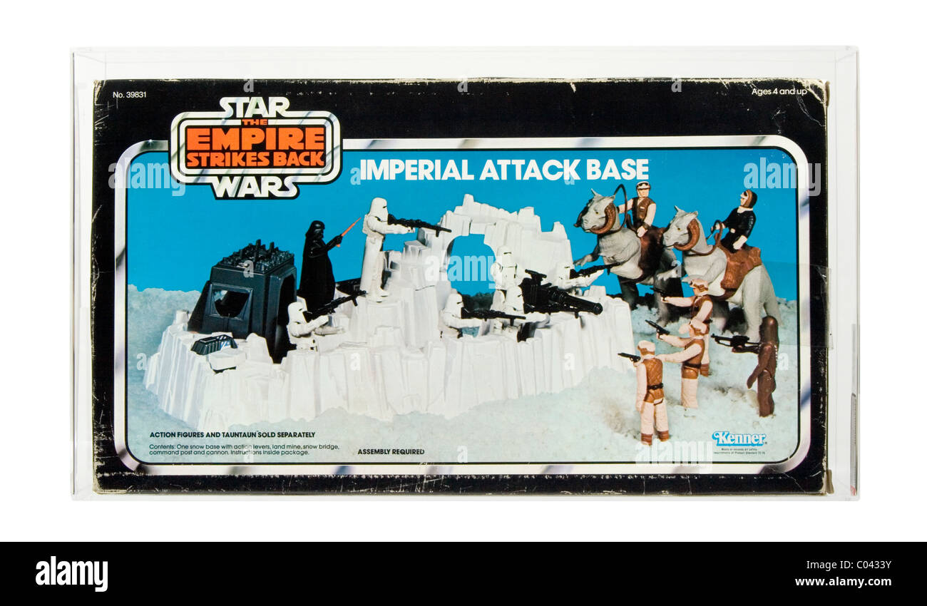 1980 Star Wars Empire Strikes Back Imperial Attack Base, made by Kenner. Unopened example, AFA 75 Excellent+/Near - Stock Image