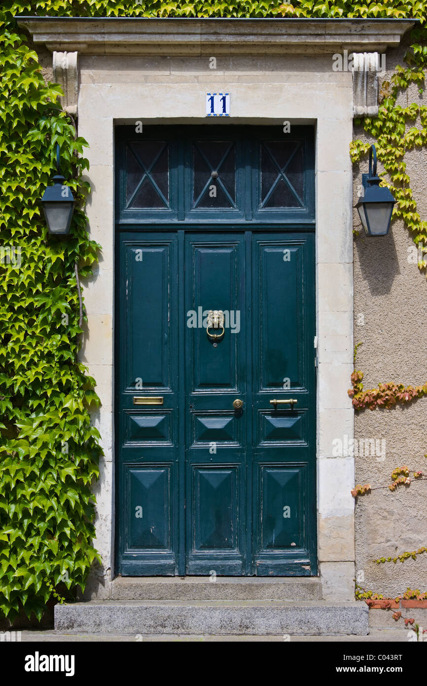 Period doorway in Ballee, Normandy, France Stock Photo