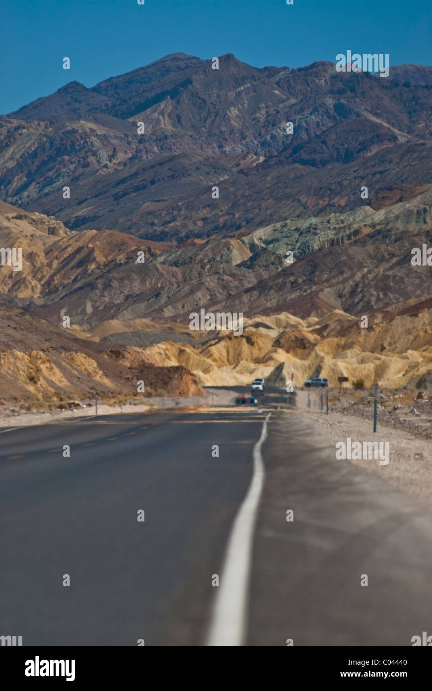 Colorful mountains at Death Valley National Park - Stock Image