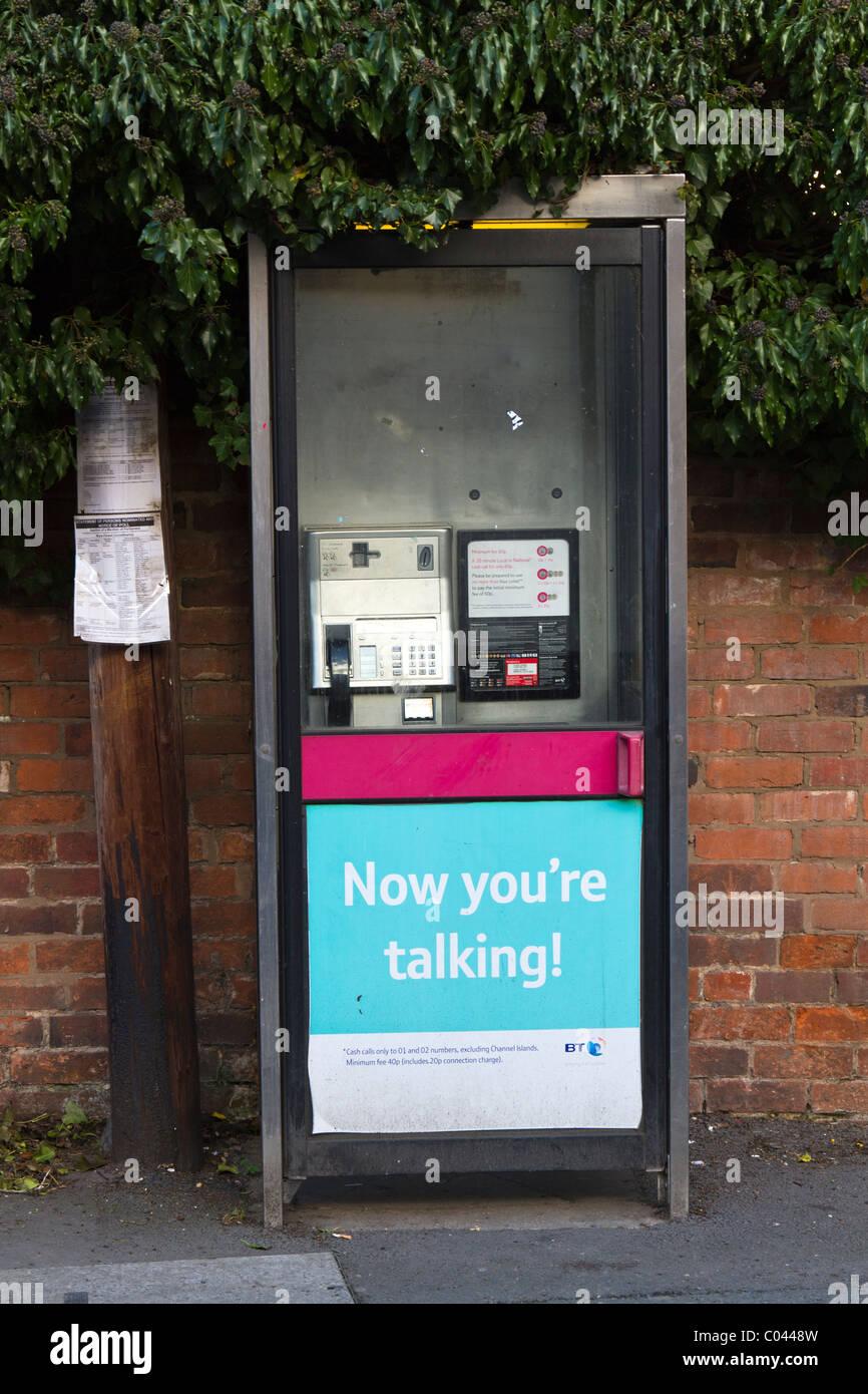 British Telecom public telephone box - Stock Image