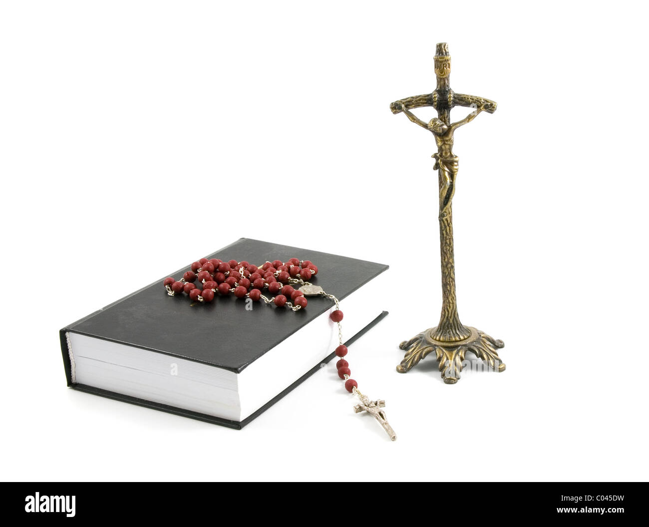 rosary metalic cross and holy bible stock photo 34512853 alamy